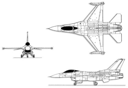 F-16 Fighting Falcon trittico