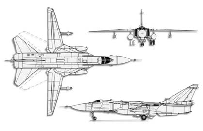 Su-24 Fencer trittico
